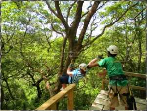 Zipline Adventure and Parsailing